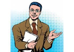 美式漫画风商务职场男子角色人物设计