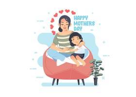 母亲节快乐主题矢量插画设计