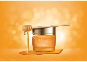 蜂蜜元素女性护肤品化妆品海报设计
