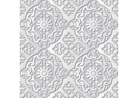 素雅灰白3D剪纸风矢量无缝装饰背景