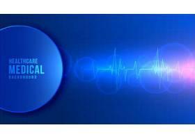 蓝色电波科技线条元素矢量背景