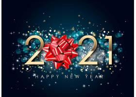 黑金新年快乐新年主题2021装饰图案