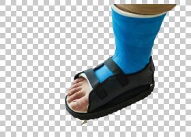 受伤包裹的右脚