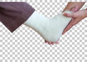 检查包裹石膏的足部