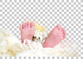可爱稚嫩的婴儿足部脚部特写