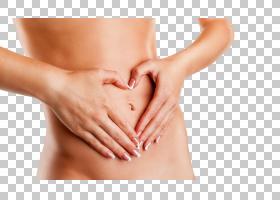 女性腹部瘦身瘦腰心形手势