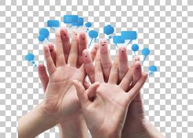 手指头带可爱表情的手部特写