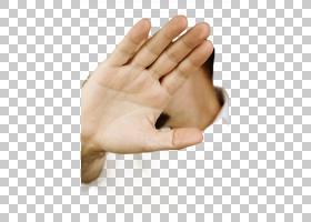 做遮挡手势的手