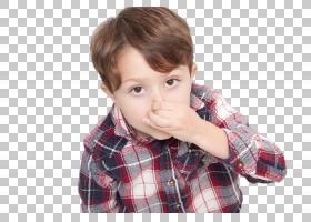 捏鼻子的男孩