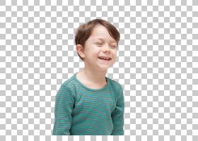 开心的小男孩