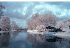 唯美冬季河流景观