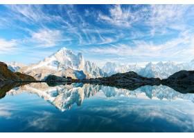 唯美雪山与湖泊