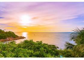 阳光海岸唯美落日