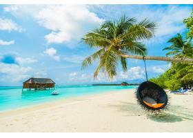 唯美热带海边海岸沙滩度假岛屿