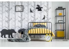 北欧风时尚简洁森林风文艺房间设计