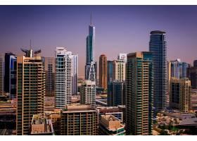 繁华商务金融城市黄昏