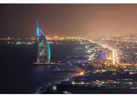 迪拜帆船酒店夜景