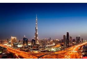 繁华商务金融城市夜景