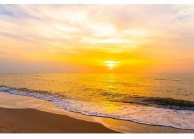 唯美落日海滩