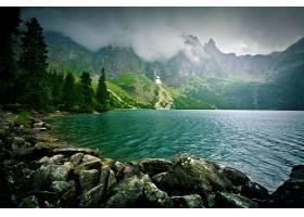 原始森林湖泊