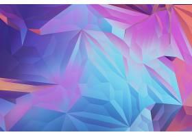 彩色多边形元素抽象装饰背景