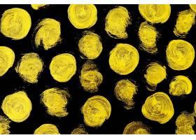 金色黑底点状刷子笔痕痕迹素材背景