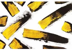 金色白底刷子笔痕痕迹素材背景