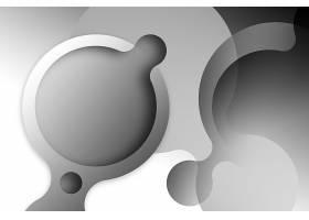 黑白灰软流体图形背景