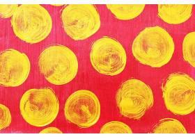 金色红底圆形刷子笔痕痕迹素材背景