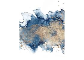 高档艺术质感蓝色鎏金抽象装饰背景