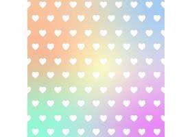 彩虹色渐变爱心图案装饰背景