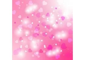 粉色光影光晕爱心图形装饰背景
