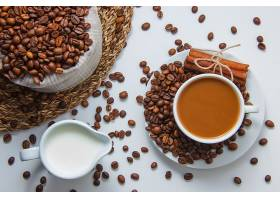 咖啡豆咖啡喝奶