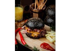 黑色汉堡包