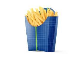 薯条包装纸盒子智能样机素材
