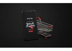 黑色星期五手机购物车模型样机