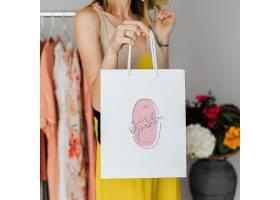 时尚手提购物纸袋智能样机素材