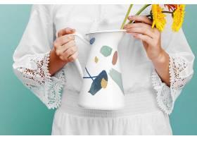 花瓶装饰图案智能样机素材