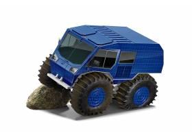 大轮卡车贴图智能展示样机素材