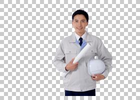 微笑的工作男人