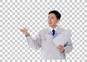 拿着文件做介绍的工作服日本男子