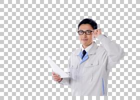 手扶眼镜的男性