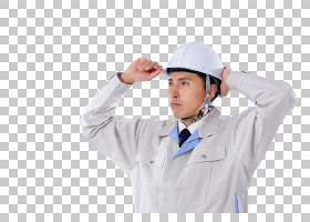 戴头盔的男性