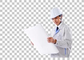 查看图纸的工作服日本男子