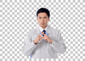 做拒绝反对手势的工作服日本男子