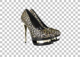 豹纹女性高跟鞋