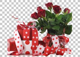 礼品与玫瑰花束