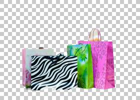 一堆购物袋