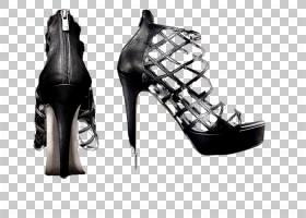 个性潮流网状高跟鞋