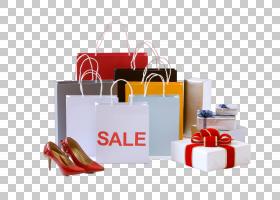 女性购物袋礼物盒高跟鞋